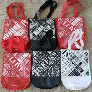Lululemon Tote Bags Lot of 6 Black Red White